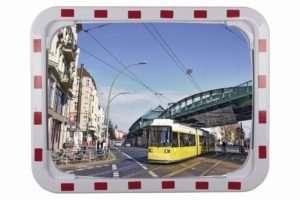 Miroir routier 60x80, garantie 2 ans, acrylique, fixation poteau