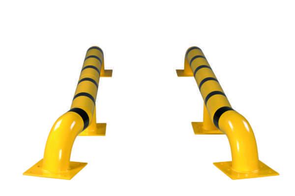 Kit de guides-roues pour camions jaune-noir, à cheviller