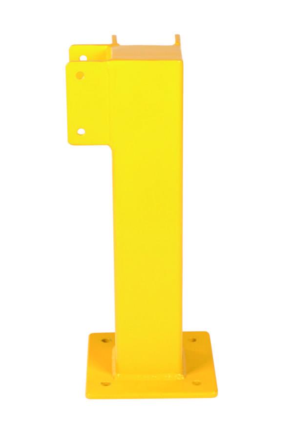 Poteau d'angle garde-corps de sécurité, H 500 mm, revêtu