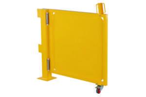 Porte basculante de garde-corps de sécurité, 2 éléments, largeur total sans poteaux 2000 mmm